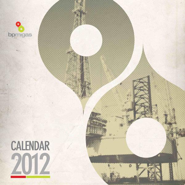 konsep desain kalender BP Migas 2