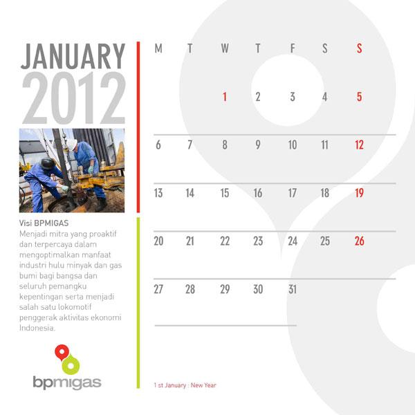 konsep desain kalender BP Migas 6
